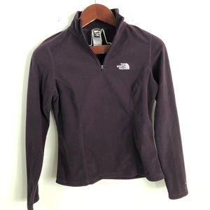 The North Face Plum Purple Fleece Sweatshirt xs